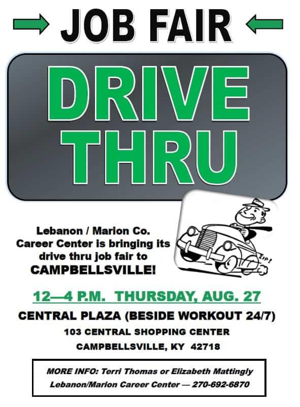 Drive Thru Job Fair August 27, 2020